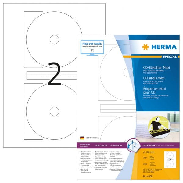 HERMA Papier, Folien, Etiketten 4460 5