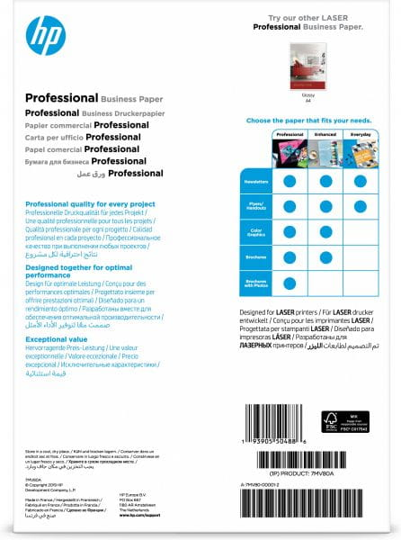 HP  Papier, Folien, Etiketten 7MV80A 2