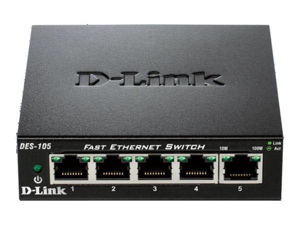 D-Link Netzwerk Switches / AccessPoints / Router / Repeater DES-105/E 3